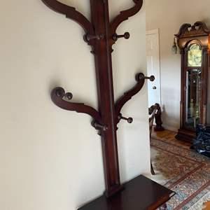 Lot # 202 - Antique mahogany hall tree