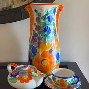 Lot # 204 - Czechoslovakian peasant pottery