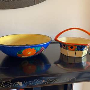 Lot # 207 - Bohemian and Czechoslovakian peasant pottery
