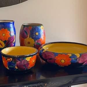 Lot # 208 - Bohemian peasant pottery