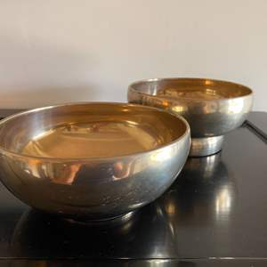 Lot # 216 - Heavy brass bowls