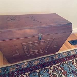 Lot # 225 - Arts + Crafts wooden chest