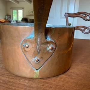Lot # 234 - vintage hammered copper pot