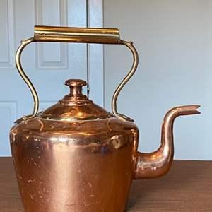 Lot # 235 - Large copper kettle