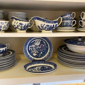 Lot # 241 - Johnson Bros Willow dishes