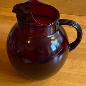 Lot # 246 - Depression red glass pitcher