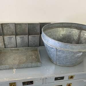 Lot # 282 - Vintage galvanized items