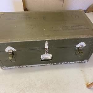 Lot # 292 - 1949 Military foot locker