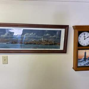 Lot # 294 - Framed artwork (does not include clock)