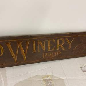 Lot # 298 - Carved winery sign