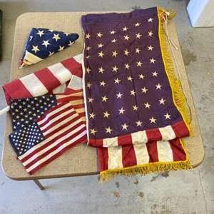Lot # 321 - 48 star silk flag with other flags