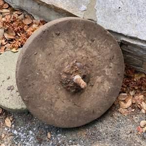 Lot # 327 - Antique grinding wheel/stone