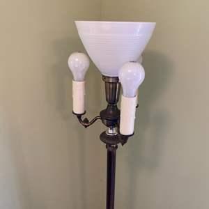 Lot # 334 - Vintage brass floor lamp
