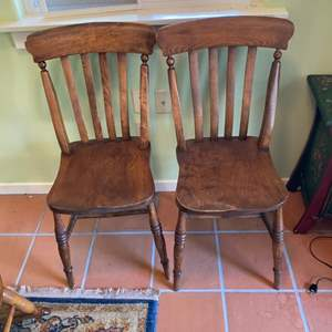 Lot # 336 - Matching antique chairs