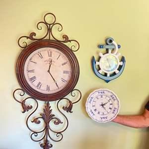 Lot # 341 - Three modern wall clocks