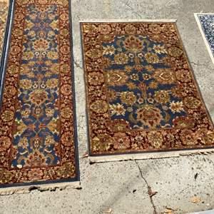 Lot # 346 - Matching rug & runner
