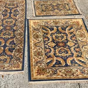 Lot # 347 - Three matching rugs & runner