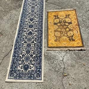 Lot # 351 - Door rug/mat & runner