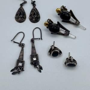 Lot # 2 - Sterling earrings (15.4g)