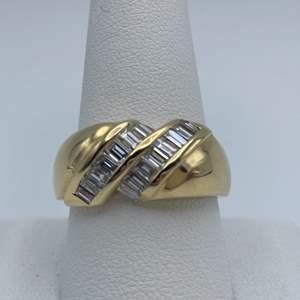 Lot # 7 - 14k Yellow gold, 1.26CTW diamond, size 10.25