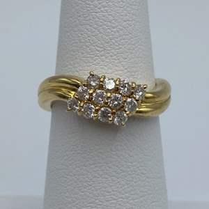 Lot # 16 -18k gold ring, .46ctw diamonds, size 5.5