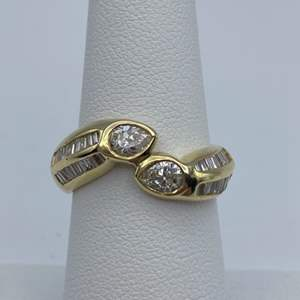 Lot # 18 - 18k Gold ring, 1.03ctw diamond, size 6.5