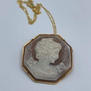 Lot # 33 - Cameo set in 18k gold with 18k necklace
