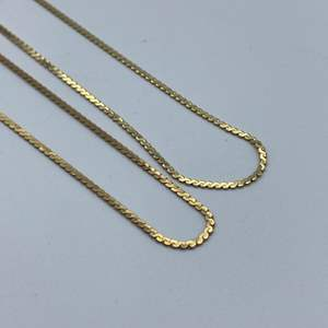"""Lot # 34 - Two 14k gold necklaces, 16"""" 18"""" (5.6g)"""