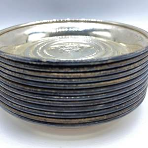 Lot # 38 - Cowell & Hubbard Co sterling coasters (414.g)