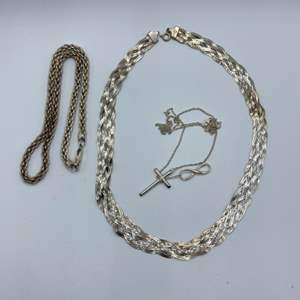 Lot # 50 -  Sterling necklaces (47.5g)