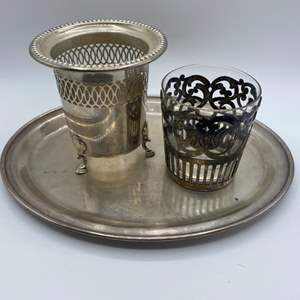 Lot # 51 -  Sterling service pieces (210.4g)