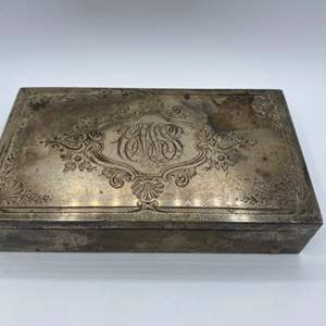 Lot # 52 - Bailey, Banks & Biddle Sterling box lined with Spanish cedar (363g total weight)