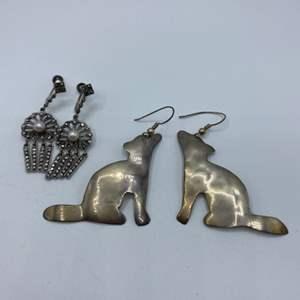 Lot # 54 - Sterling earrings (14.0g)