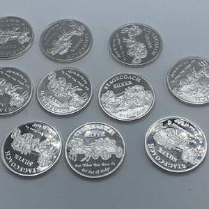 Lot # 67 - 10, Stagecoach .999 silver divisible 1 oz. rounds