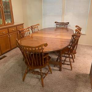 Lot # 9 - Table w/ 6 chairs made by Watertown Table Slide Co