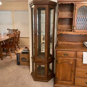 Lot # 12 - 6 Ft Curio Cabinet w/ lights (matches lot 13)