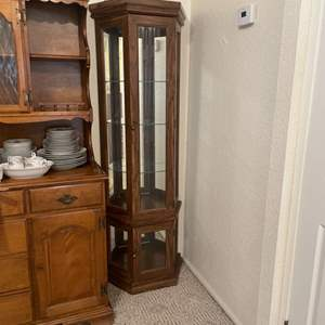 Lot # 13 -  6 Ft Curio Cabinet w/ lights (matches lot 12)