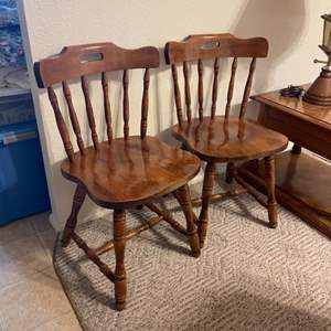 Lot # 43 - Matching Solid Wood Chair's