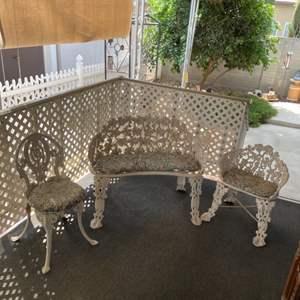 Lot # 69 - Metal Porch Set