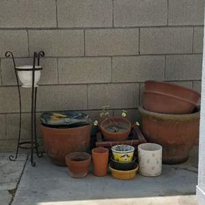 Lot # 79 - Terra Cotta, Ceramic and Plastic Pots