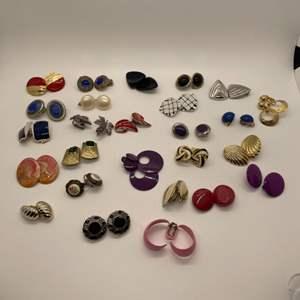 Lot # 82 - Clip on Fashion Earrings