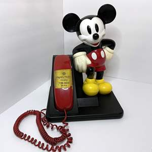 Lot # 1 - Vintage Disney Mickey Mouse Corded Phone