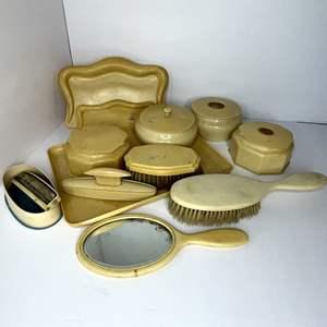 Lot # 4 - Vintage Celluloid Vanity Set