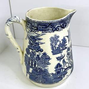 Lot # 9 - English Blue Willow Pitcher