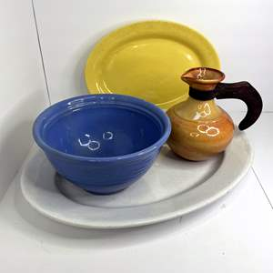 Lot # 12 - California Bauer Pottery (2) and Serving Platter