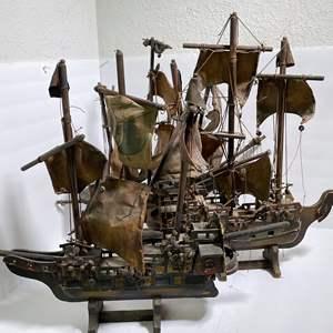 Lot # 23 - Replica Wooden Model Ships