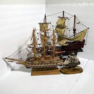Lot # 24 - Replica Wooden Model Ships