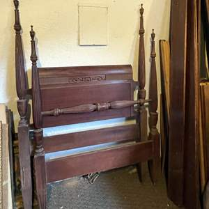 Lot # 35 - (2) Twin Bed Wooden Headboards and Footboards