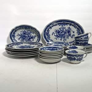 Lot # 40 - Bluemont Blue Transferware China Kitchen Set (Japan)