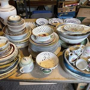 Lot # 43 - Huge Assortment of Porcelain Dishes